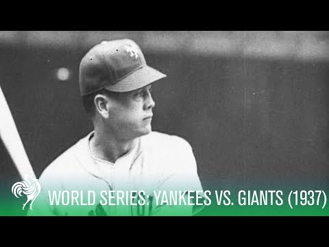 Baseball World Series Classic - NY Yankees Vs NY Giants (1937)