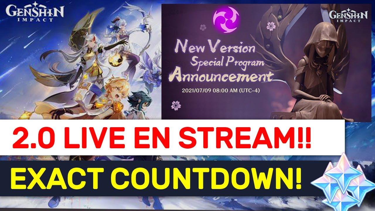 NEW VERSION 2.0 Live Stream! 4 Hours EARLY Stream Countdown! | Genshin Impact