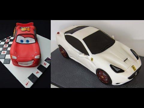Посмотри! Как сделать торт - Молния Маквин + Ferrari + другие модели торт машинок!