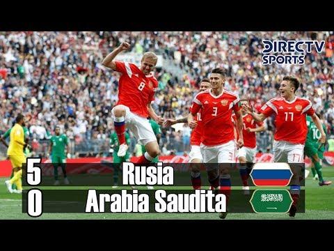 Rusia Vs Arabia Saudita 5-0 (Grupo A)  Resumen Mundial Rusia 2018 DirecTV Sports