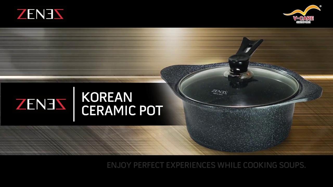 Zenez Korean Ceramic Coated Cookware English Ver Youtube