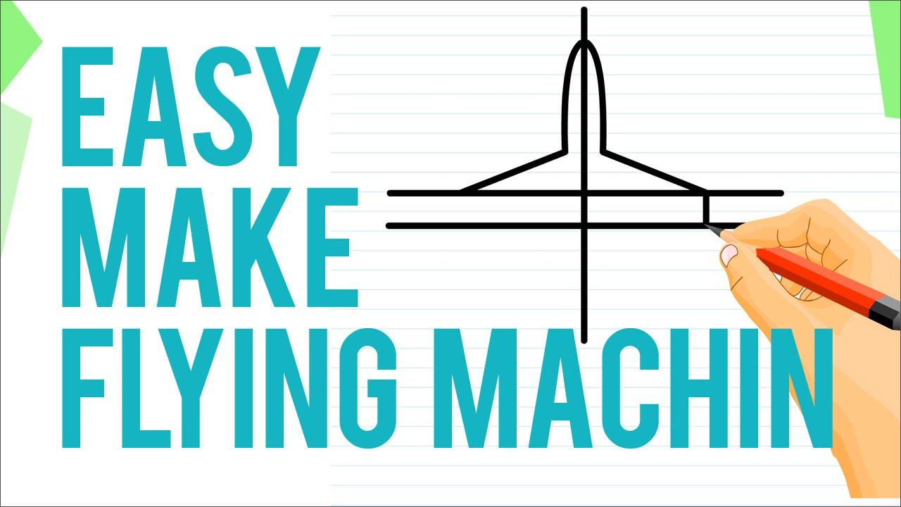Como Dibujar La Maquina Voladora: How To Draw An Aeroplane Easily