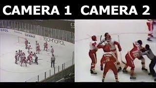 Brutal Team Fight   Canada vs USSR   2 Camera Angles   1987 World Junior Championship   Full Fight
