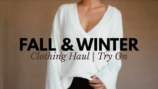 MASSIVE FALL/WINTER CLOTHING HAUL!!! TRY ON