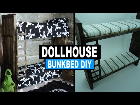 How to Make a Wooden 18 Inch Doll Bed for About $10.00 : Plus Bunk Beds DIY: How to Make Doll Bunk Bed Using Popsicle Sticks / Ice Cream Sticks We