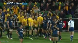 Gresca entre Pumas y Wallabies Rubgy - Argentina vs Australia