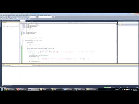 Visual C# With Microsoft Access Database Tutorial   Part 3 Insert Statement