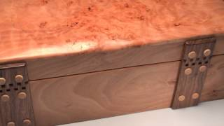 Handmade Jewellery Box In Burr Beech