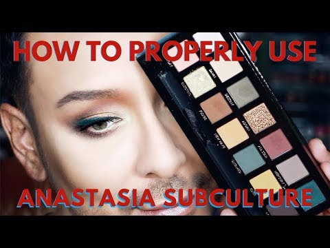 How to Use Anastasia Subculture Eyeshadow Palette CORRECTLY & First Impressions | mathias4makeup