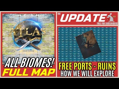 ATLAS REAL MAP! Create Your Own - All Biomes! How We Explore