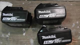 Makita Batteries. Which is heavier?
