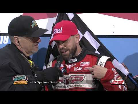 Knoxville Raceway: Brian Brown Victory Lane - May 4, 2019
