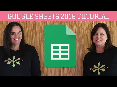 Google Sheets 2016 Tutorial