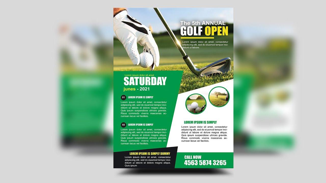 Annual Golf Tournament Flyer Design | Photoshop Tutorials