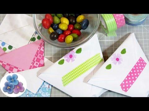 bolsas de papel para regalos fácil dulceros para niños origami