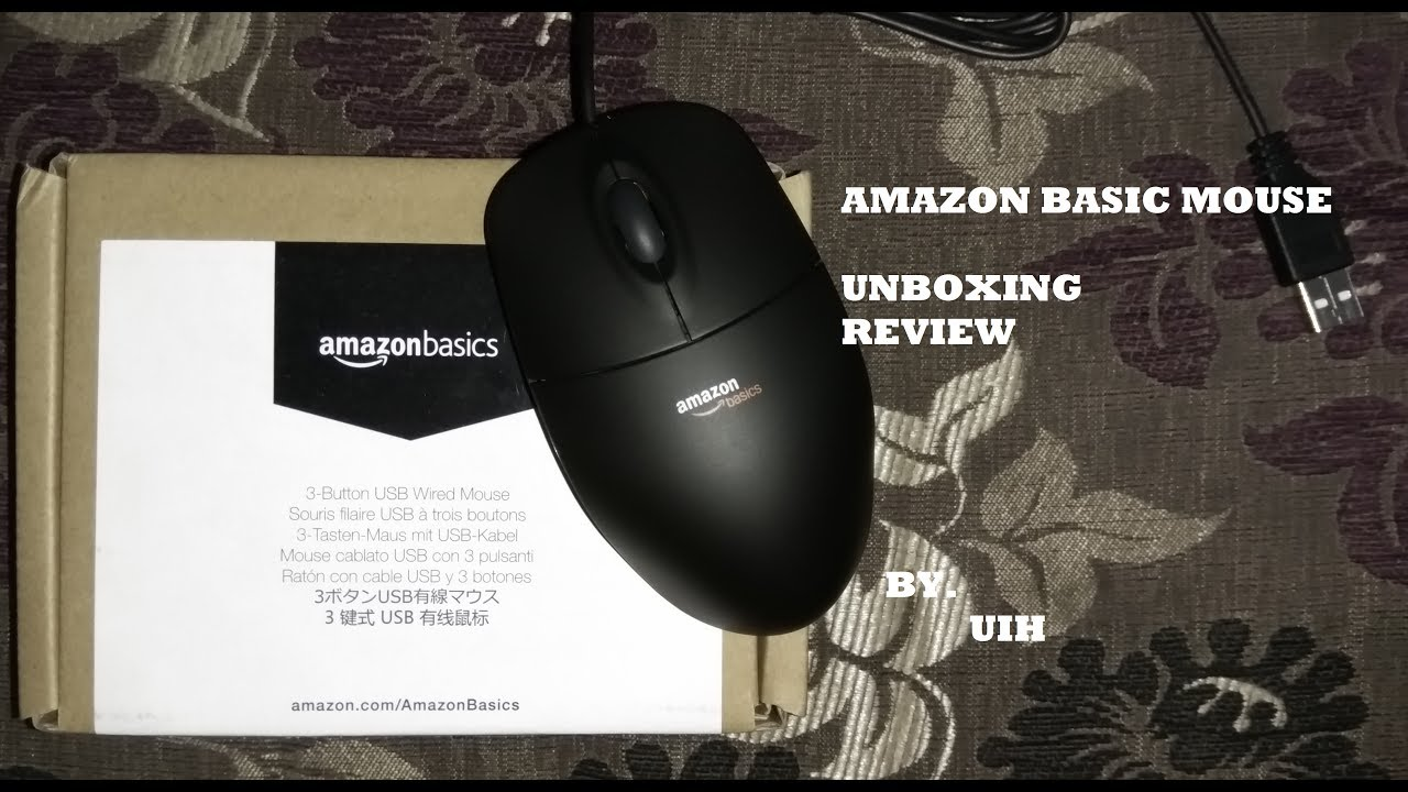 4fafec1602c Amazon Basic Mouse : Unboxing - Review - YouTube
