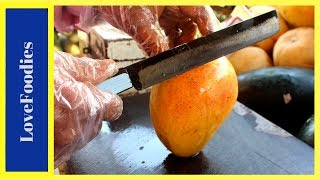 FRUIT NINJA of Mangoes | Amazing Fruits Cutting Skills | Indian Street Food In 2018