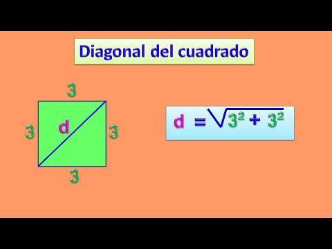 Diagonal Del Cuadrado Youtube