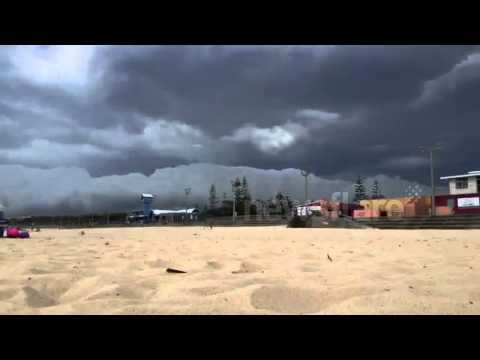 Storm cell arriving at Maroubra Beach, Sydney