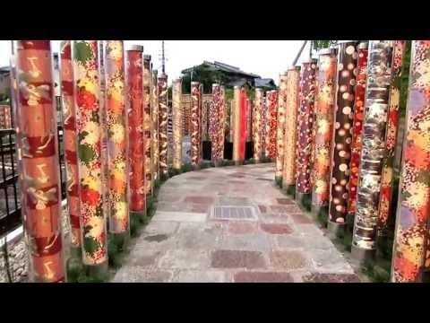 A walk through the beautiful decorative lights at Arashiyama, Kyoto, Japan July 2013