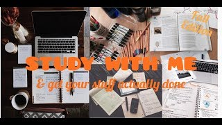 Be productive & STUDY WITH ME for 1 hour || Morning session || Real time + music