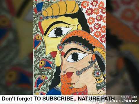 MADHUBANI PAINTING TUTORIAL FOR BEGINNERS ||METHILA PAINTING||INDIAN FOLK ART ||ACRYLIC PAINTING