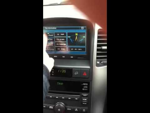 Chevrolet Captiva Sat Nav Command System Youtube