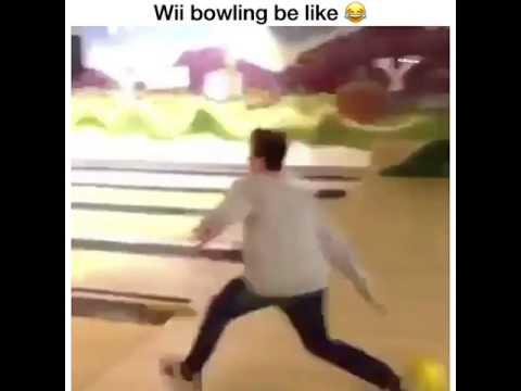 Wii bowling be like