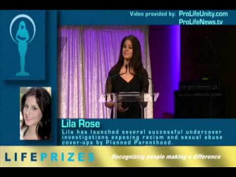Lila Rose, Live Action President, Receives 2008 Life Prize