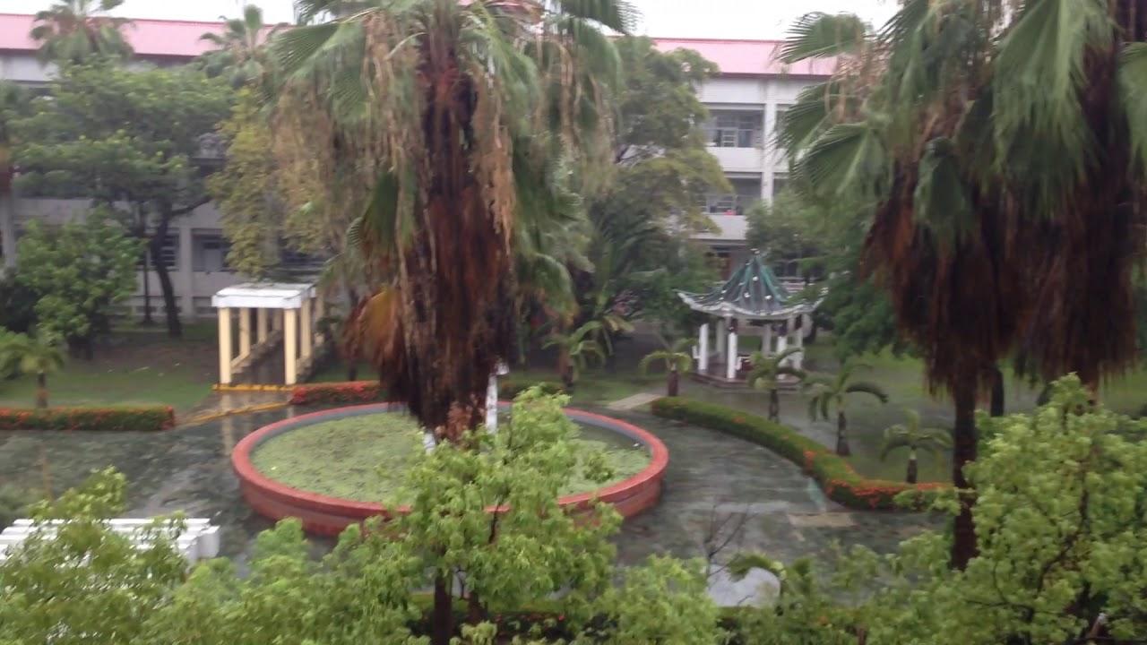 校園雨中即景