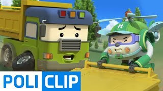 The wheels are about to fall!!   Robocar Poli Rescue Clips