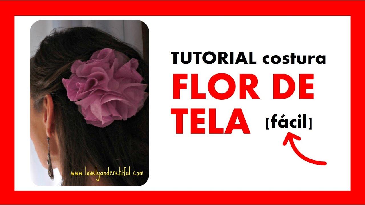 Flor de tela youtube - Flores de telas hechas a mano ...