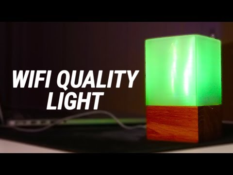 Making a WiFi Quality Sensing Lamp - 3D PRINTED