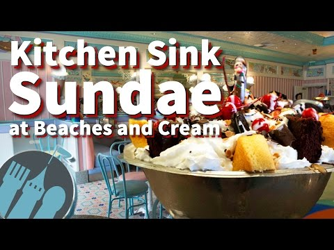 The Kitchen Sink Sundae at Beaches and Cream!