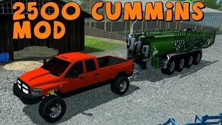 Repeat youtube video Farming Simulator 2013 | Let's Play With Mods | Dodge Ram 2500 Cummins!