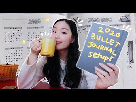 my 2020 bullet journal setup | simple + minimalist :)
