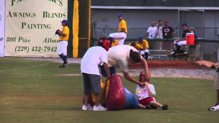 Kid Gets Owned in Big Glove Boxing at Minor League Baseball Game (849)