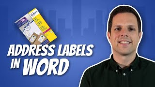 How to print address labels in Word