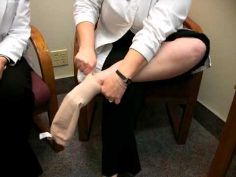 df69de2e7 Donning Compression Stockings at Home - YouTube