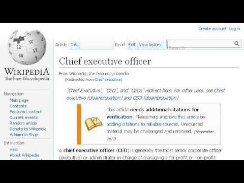The Job Description For The Chief Executive Officer Of A