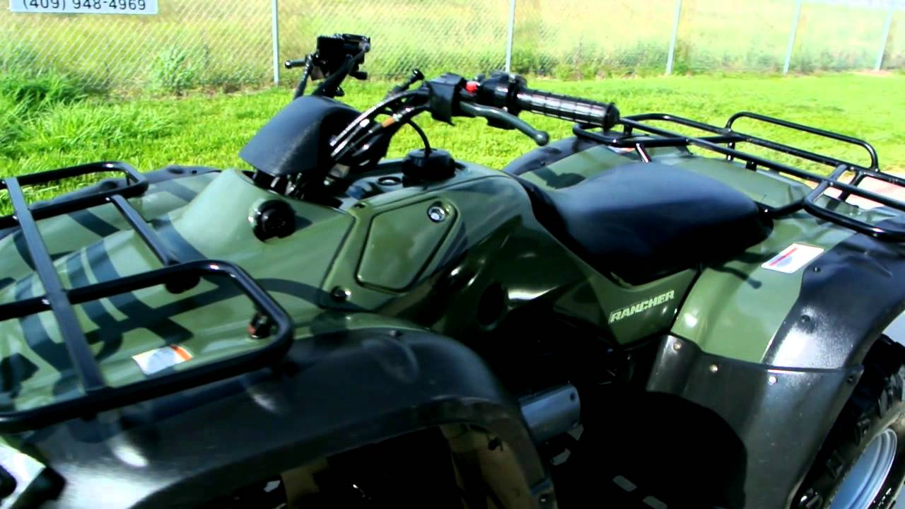 2006 Honda Rancher 350 Olive Green Overview Review Walk