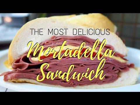 Massive Mortodella Sandwich at Mercado Municipal in Sao Paulo, Brazil