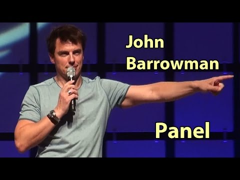 John Barrowman Having Crazy Arrow Fun in HD @ Comicon. kisses, moons & SPN Supernatural Panel Myles