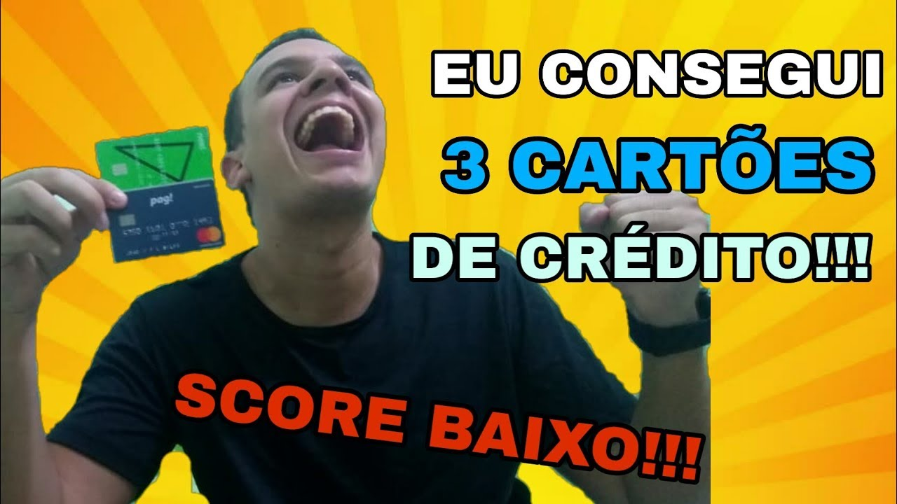 SCORE BAIXO: COMO AUMENTAR O SCORE DO CPF! CONSEGUI 3 CARTÕES DE CRÉDITO!!!