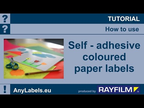 Self adhesive coloured paper labels