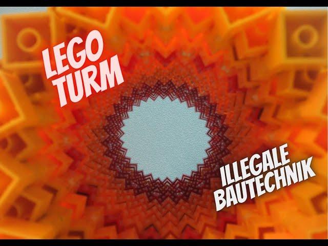 LEGO Turm mit illegaler Bautechnik