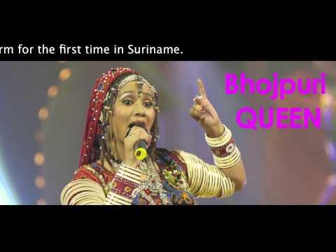 Kalpana Patowary in Suriname presenting Bhojpuri Folk Music India.