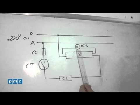 Sơ đồ nguyên lý hoạt động của bóng đèn huỳnh quang_Kỹ thuật điện