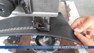 KEESTAR 204-2 A-CL Double Needle, Post Bed, Heavy Duty Sewing Machine