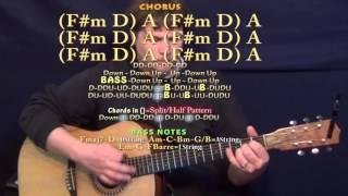 T-Shirt (Thomas Rhett) Guitar Lesson Chord Chart in A Major